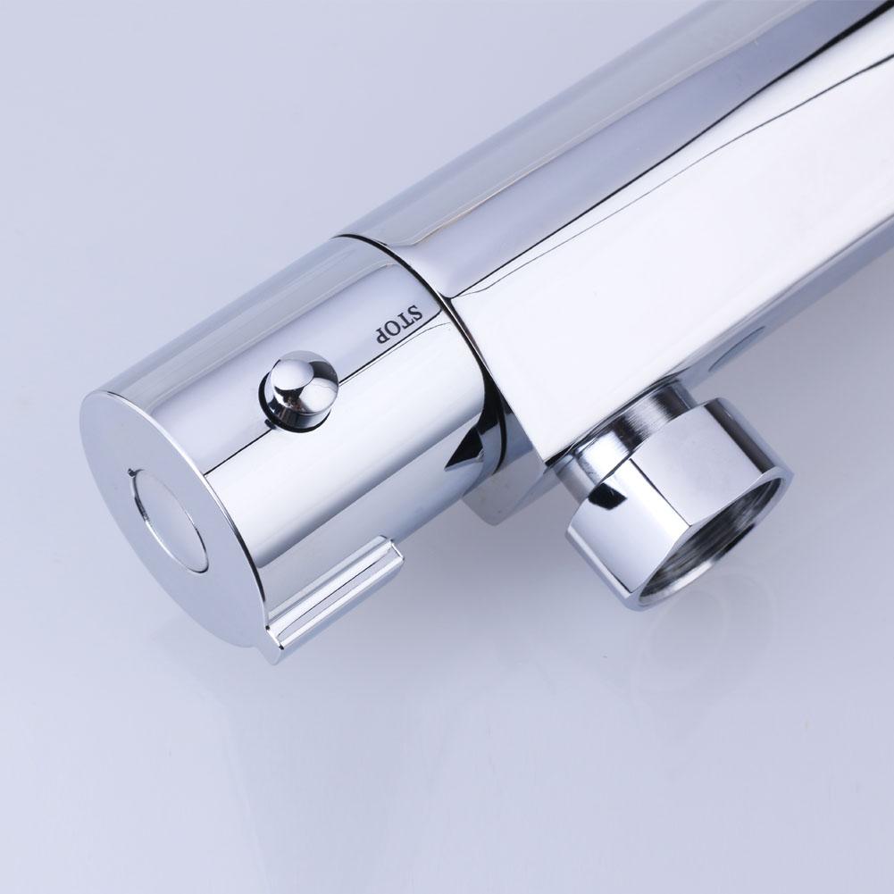 dusche thermostat duscharmatur verchromt messing mischbatterie verbr hschutz bad ebay. Black Bedroom Furniture Sets. Home Design Ideas