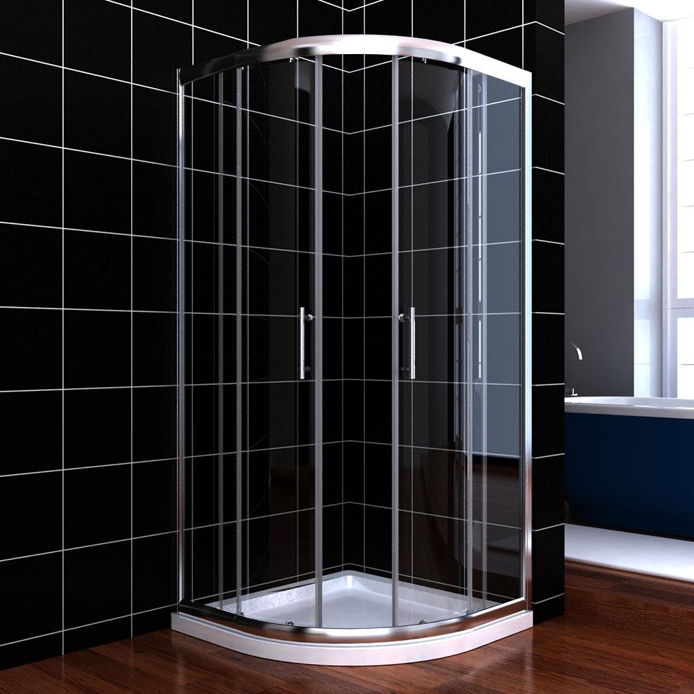 90x90cm duschkabine viertelkreis runddusch nano schiebet r. Black Bedroom Furniture Sets. Home Design Ideas