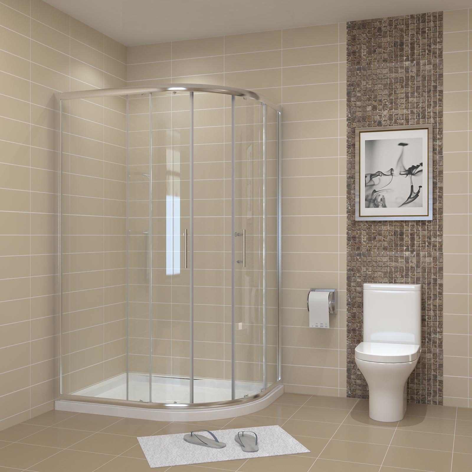 duschkabine viertelkreis runddusche duschabtrennung schiebet r duschtasse ebay. Black Bedroom Furniture Sets. Home Design Ideas