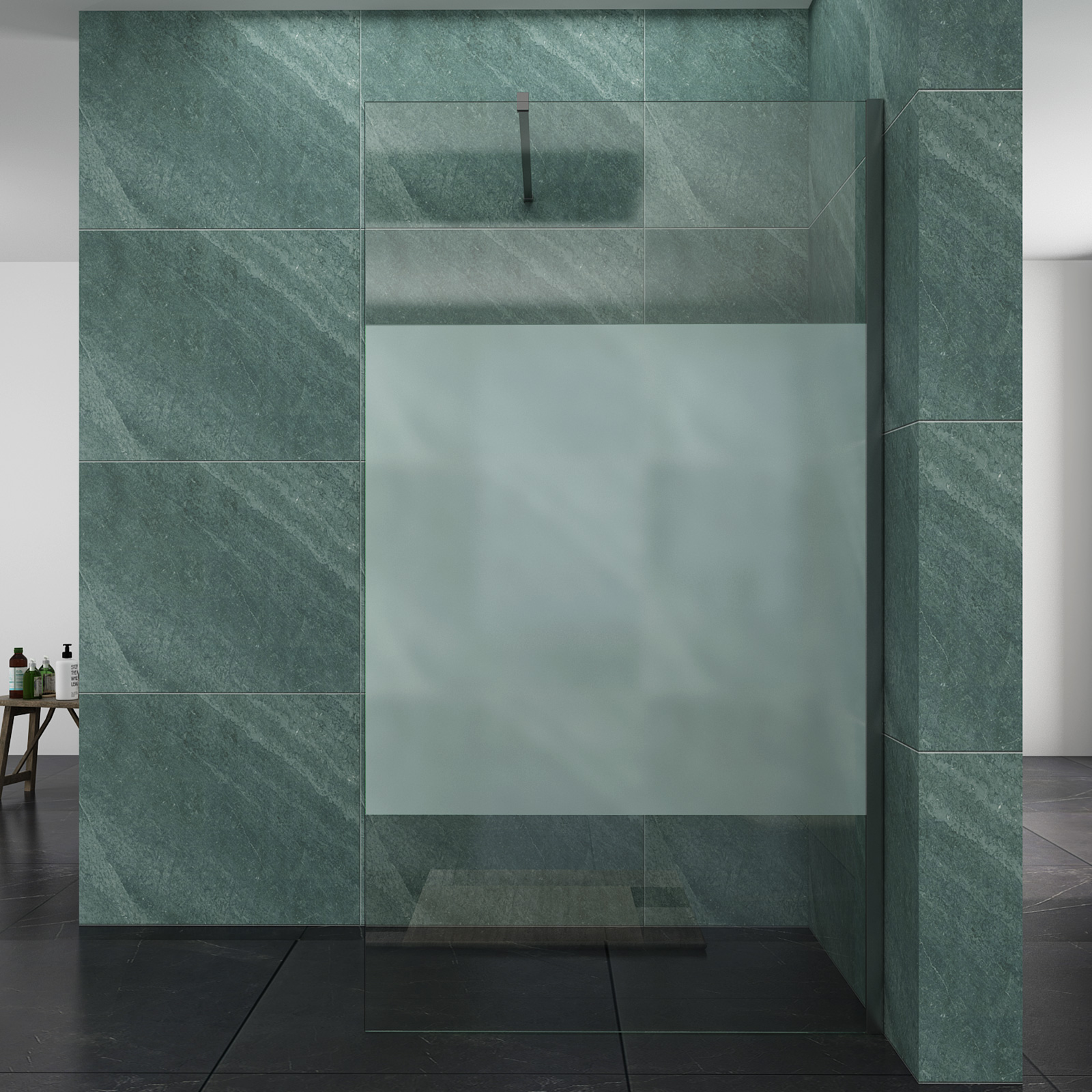 Details About Walk In Shower Enclosures Wet Room Frosted Door 10mm Tempered Self Clean Glass