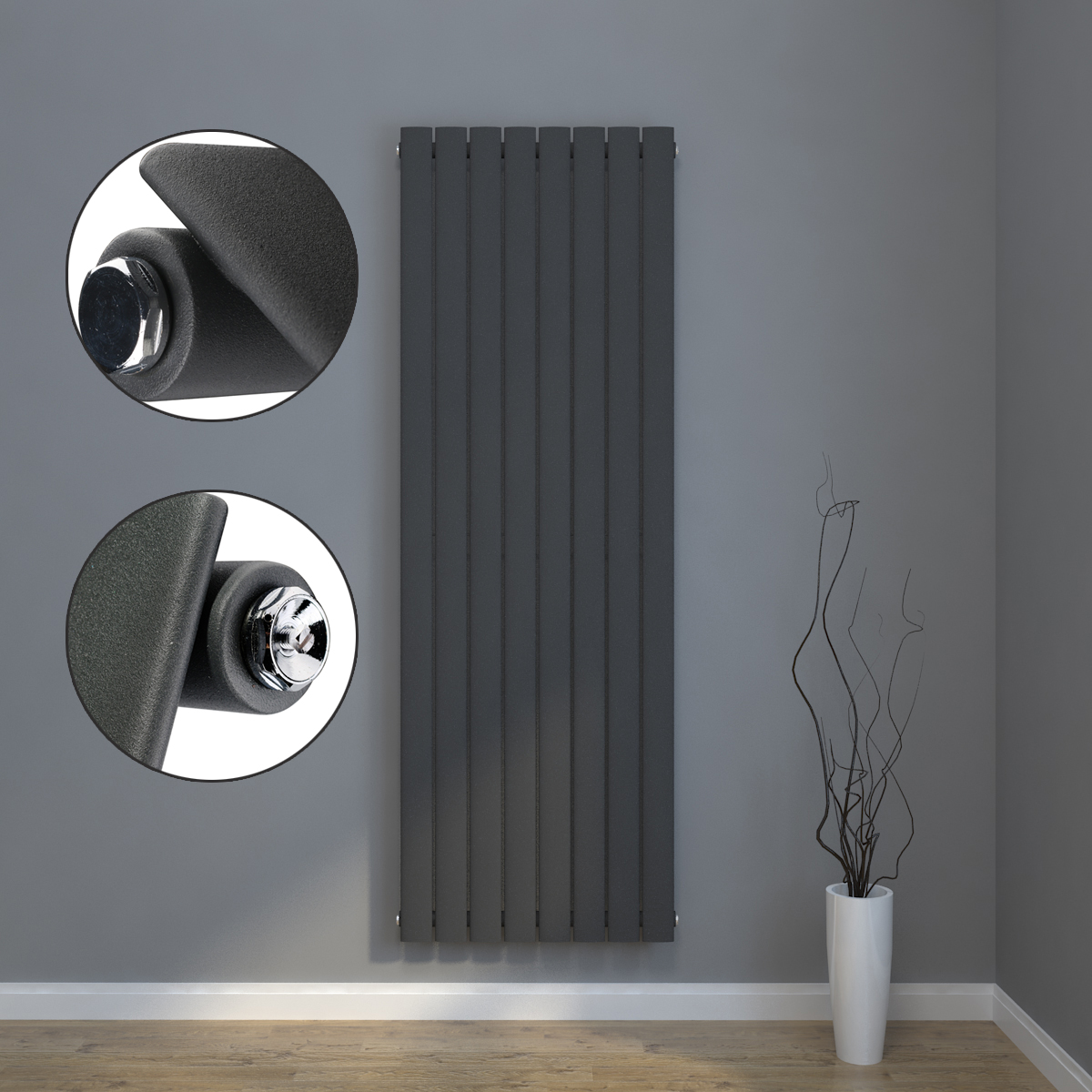 design flach heizk rper badheizk rper mittelanschluss heizk rper wandheizk rper ebay. Black Bedroom Furniture Sets. Home Design Ideas