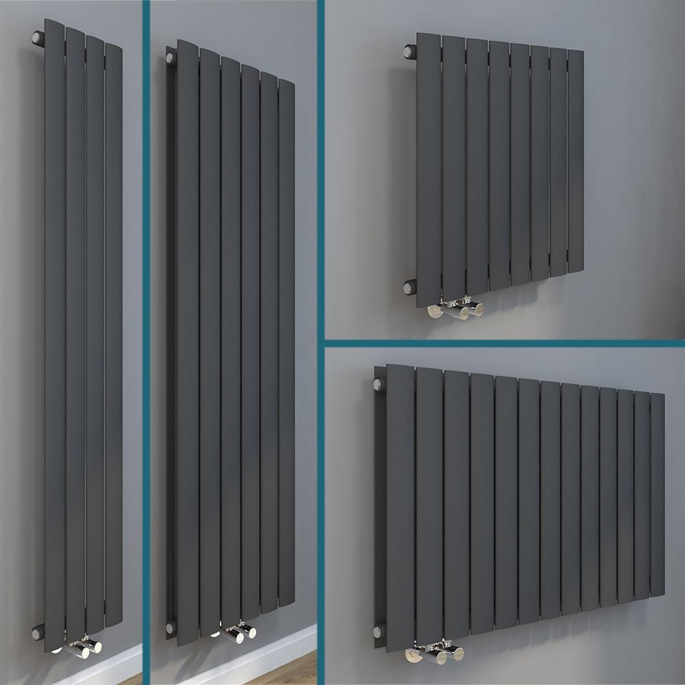 Details zu Design Heizkörper Flachheizkörper Wandheizkörper  Vertikal/Horizontal Antrazit