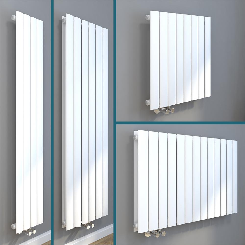 Details zu Design Paneel Heizkörper Flachheizkörper Wandheizkörper  Vertikal/Horizontal Weiß