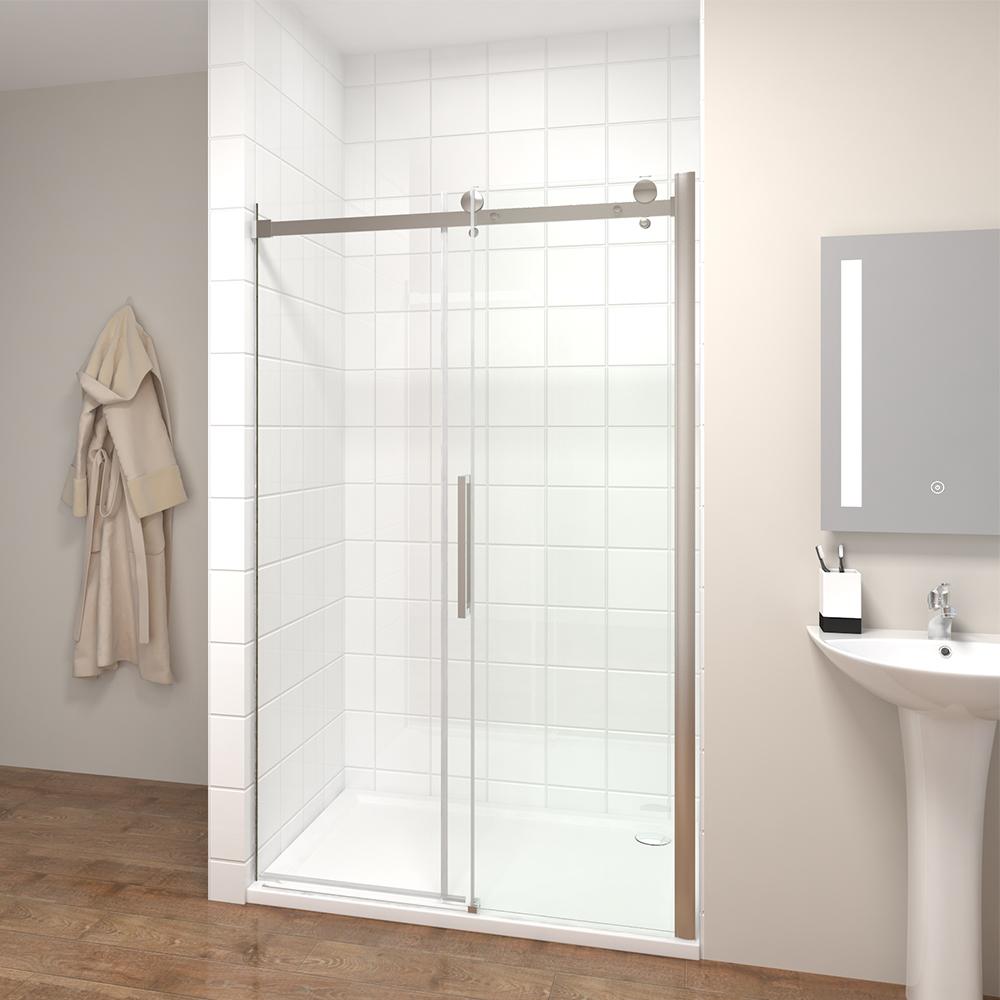 dusche 130cm duschkabine duschabtrennung schiebet r esg. Black Bedroom Furniture Sets. Home Design Ideas