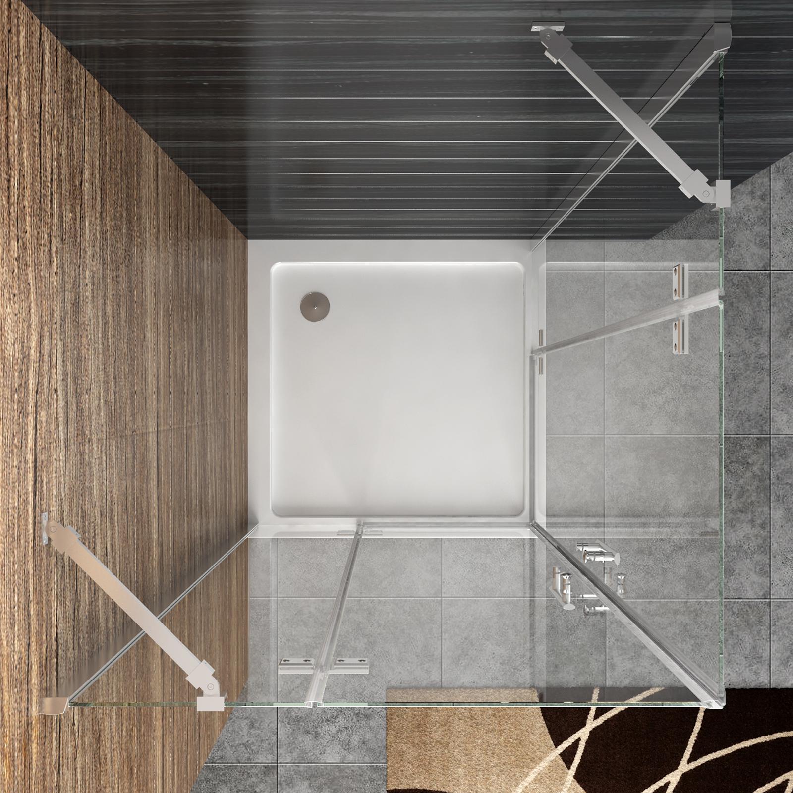 Dusche Eckeinstieg Montageanleitung : Duschkabine Eckeinstieg Duschabtrennung Echtglas Duschwand Dusche