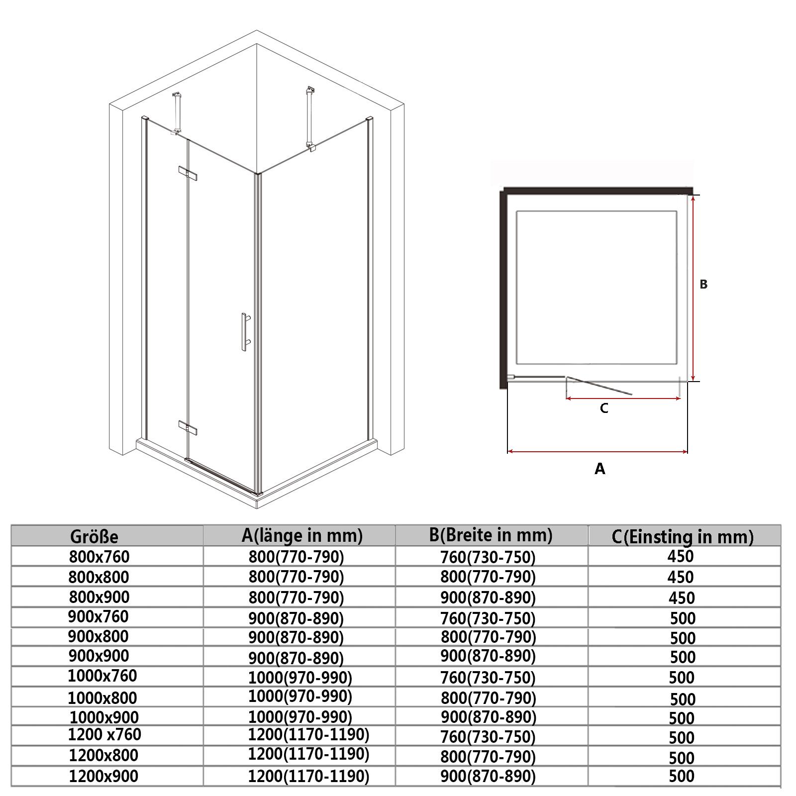 Dusche Eckeinstieg Montageanleitung : Stangengriff aus Edelstahl 2 Haltestange aus hochwertiger Aluminium