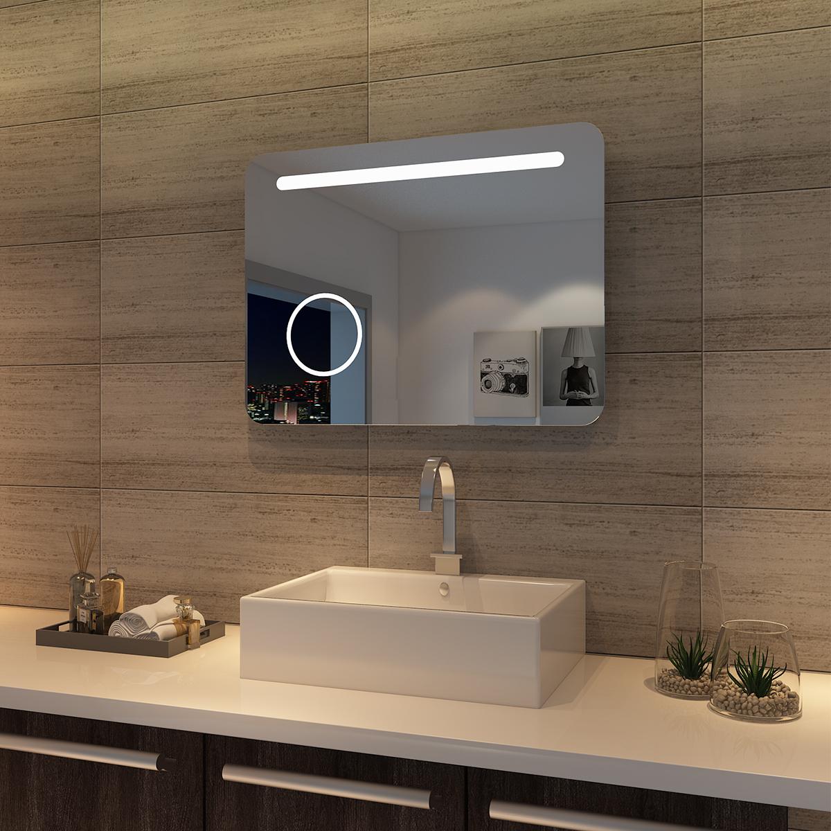 LED Bad Spiegel Badezimmer Lichtspiegel Badspiegel mit ...